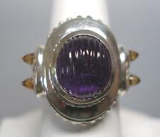 vecchio stile SALDI argento sterling ORIGINALE ametista & Citrino da donna