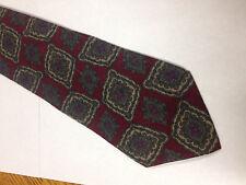 Mens Red Green Brown SILK Tie Necktie J.T. BECKETT  (11052)