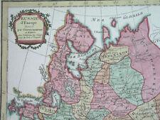 1800 Rare Nice Original Map Russia Ukraine Estonia Latvia Moscow Kiev Riga