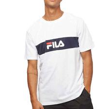 T-shirt Uomo Fila Nolan Dropped Shoulder Bianco Codice 687034-I98 - 9M