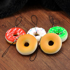 1PC Candy Donuts Accessories Squishy Cell Phone Key Chain Charms Toy HOT