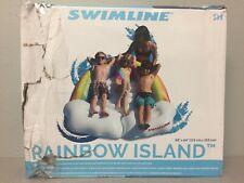 Swimline 90815 Multicolored Vinyl Inflatable Rainbow Island Pool Float