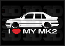 I Heart My MK2 Sticker Love VW Volkswagen Slammed Euro Germany GLI Jetta Sedan
