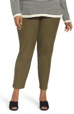 Eileen Fisher Olive Green Washable Stretch Crepe Slim Ankle Pant 1X NWT
