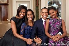 President Barack Obama and Family - Giclee Photo Print