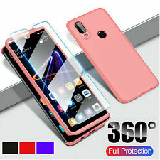 Samsung Galaxy A10e Case Shockproof 360 Bumper Hybrid Cover + Tempered Glass