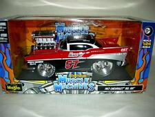 1957 CHEVY BEL-AIR BLACK & RED NEW RELEASE FROM MAISTO  2012 MIB.1:24 SCALE
