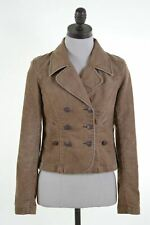 LEVI'S Womens Double Breasted Corduroy Blazer Jacket Size 10 Small Brown  EG12