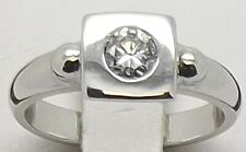 9CT WHITE GOLD NATURAL DIAMOND SOLITAIRE ENGAGEMENT/DRESS RING SIZE P–VAL $2782