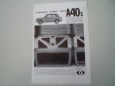 advertising Pubblicità 1964 INNOCENTI A40 A 40 S