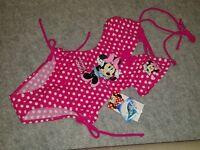 Disney MINNIE MOUSE Costume Intero Bambina Mare Piscina Swim Suit Beach NUOVO