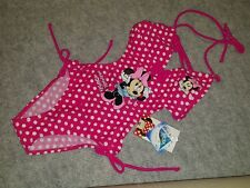 Disney MINNIE MOUSE Costume Intero Bambina Mare Piscina Swim Suit Beach NUOVO