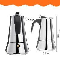Coffee Tea Maker Pot Stainless Steel Mocha Espresso Latte Percolator Stove Top