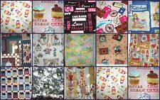 "Choose 1 Fat Quarter (18 x 22"") various novelty cottons animal floral candy food"