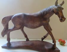 "Large 11""  HORSE, wood, hand carved figurine, carving ,SIGNED by  the artist!"