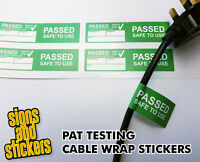 50 Passed Cable Wrap stickers Pat Test labels