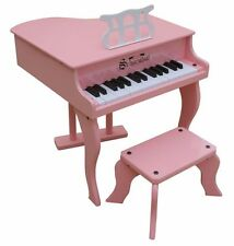NEW Schoenhut 30 Key Fancy Baby Grand With Bench - PINK - Free Shipping