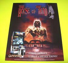Sega HOUSE OF THE DEAD Original 1996 NOS Video Arcade Game Flyer Horror Zombies