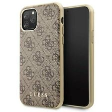 Guess Charms 4G iPhone 11 Pro Max SCHUTZHÜLLE Back Case Cover Gold Braun