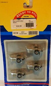 HO SCALE ATHEARN FOUR CONVERTER DOLLIES GREY NEW OLD STOCK READY TO ROLL