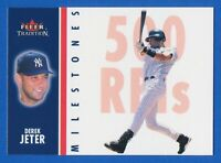 2003 Fleer Tradition Milestones #16 of 25 Derek Jeter New York Yankees HOF MINT