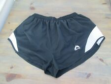 "Black More Mile 2"" elite high-cut running shorts, size XL"