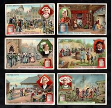 Life In Brittany Liebig Card Set 1912 Breton France Hat Vintage Fishing Holiday