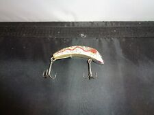 """Vintage South Bend SUPER SNOOPER Lure, white/red Shadow Wave, 3"""" lg,"""