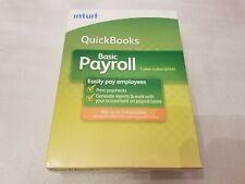 Intuit Quickbooks Basic Payroll 2009 1-3 Employees Windows - 1 Year Subscription