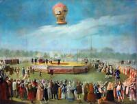 PAINTING LANDSCAPE CARNICERO BALLOON COURT CHARLES IV ART PRINT POSTER HP1700