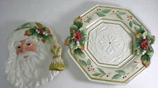 Fitz & Floyd Collector's Set Winter Wonderland Canape Plate & Server Msrp $113