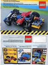 LEGO    CATALOGO  TECHNIK   1981   NOTICE / INSTRUCTIONS BOOKLET / BAUANLEITUNG