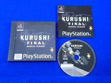 ps1 KURUSHI FINAL Mental Blocks Rare Playstation Game Boxed COMPLETE PAL ps2 ps3