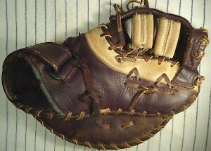 Nice used Mizuno Franchise GFX 92 1st basemans mitt used brown & tan RH throw
