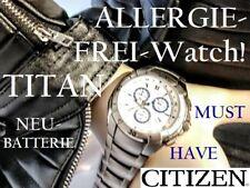 CITIZEN RARITÄT AllergieFREI TITAN BUSINESS SPORT WATCH F500-S038871 Chronograph