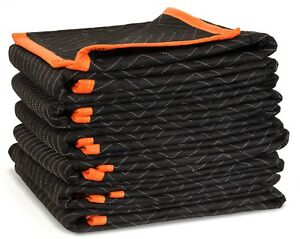 WEN 272406 72-Inch by 40-Inch Heavy Duty Padded Moving Blankets, 6-Pack