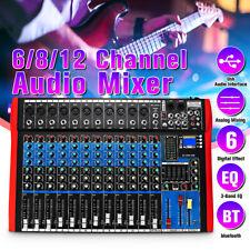 Pro 12 Channel Audio Mixer bluetooth Professional Studio Digital Usb Mp3 Console
