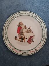 1985 Norman Rockwell When The Merry Christmas Spirit Fills The Air, Plate No Box