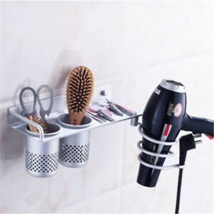 Hair Dryer Straightener Holder Spiral Wall Mounted Bathroom Use Comb