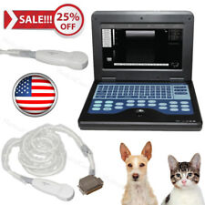 US Stock,Veterinary Ultrasound Scanner Laptop Machine 5.0Mhz Micro Convex Probe