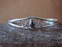 Native American Indian Jewelry Sterling Silver Onyx Bracelet