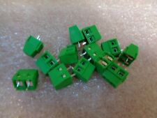 "25 X Vert 2 Broches 2 Way 2.54 mm 0.1"" Pitch PCB Screw Terminal Block Connector X25"