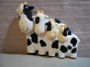 Black & White Cow Measuring Spoons Wall or Counter Mount