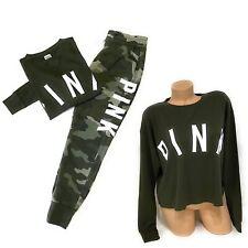 NWT Victorias Secret PINK Graphic Long Sleeve Tshirt Tee Jogger Pants Set Small