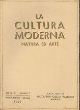 LA CULTURA MODERNA. NATURA ED ARTE