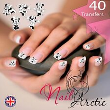 40 x Nail Art Water Transfers Stickers Wraps Decals Mouse Gr3