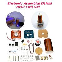 24V Electronique Tesla Bobine Kit Mini Musique Plasma Haut Parleur  DIY  +A