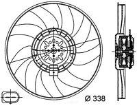 Engine Cooling Fan-Premium Plus Right Behr Hella Service 351044361