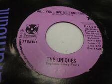 The Uniques Will You Love Me / I Am A Gemini 45 rpm Paramount Records EX