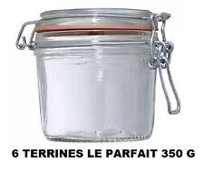 LOT 6 BOCAUX TERRINE LE PARFAIT taille 350 GRAMMES ° 85 MM bocal en verre